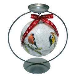 """Glob cu suport """"Winter birds"""""""
