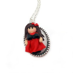 Colier fimo Little Girl 2