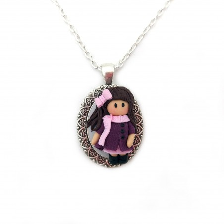 Colier fimo Little Girl 1