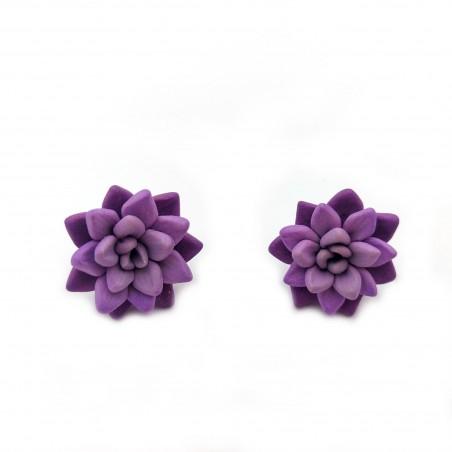 Cercei fimo Purple Succulents