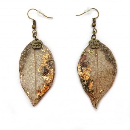 Cercei rasina Vintage Leaves