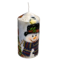 "Lumanare decorativa ""Happy snowmen"""