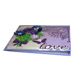Felicitare nunta 3D Purple Love