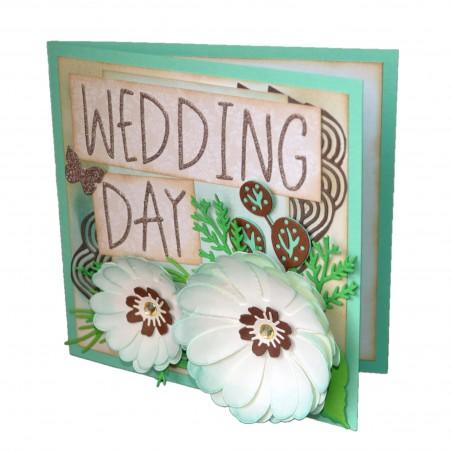 Felicitare nunta 3D Wedding Day
