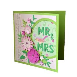 Felicitare nunta 3D Mr.&Mrs.