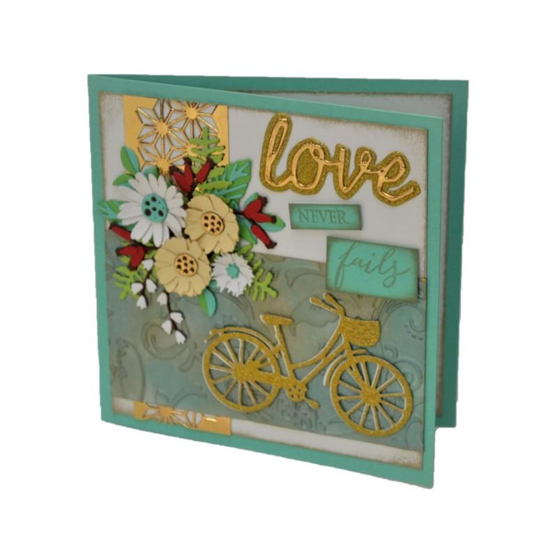 Felicitare nunta 3D Love never fails
