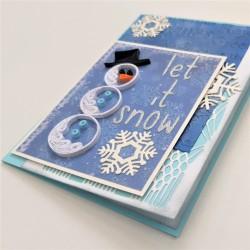 Felicitare 3D Let it snow